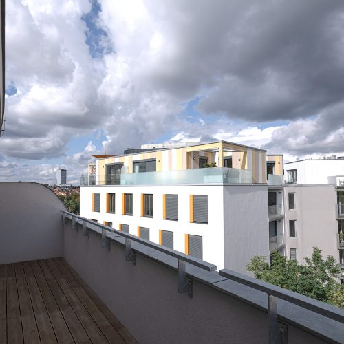 Prostorný balkon